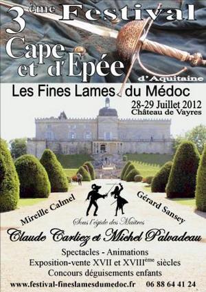 Troisième festival de cape et d'épée d'Aquitaine