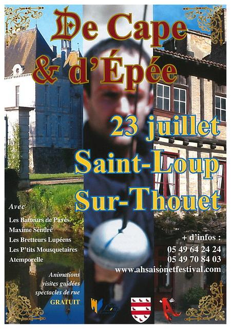 Journée de cape et d'épée à Saint-loup-sur-Thouet